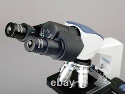 AmScope 40X-2000X LED Binocular Digital Compound Microscope and 18MP USB3 Camera