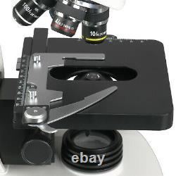 AmScope 40X-2000X LED Siedentopf Trinocular Compound Microscope 10MP USB Camera