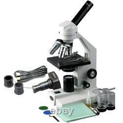 AmScope 40X-2000X Student Compound Microscope + 1.3MP Digital Camera