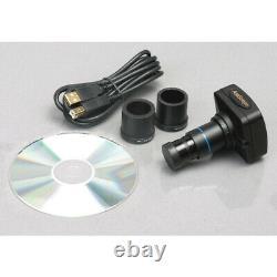 AmScope ME300T-5M 40X-400X EPI Metallurgical Microscope + 5MP Digital Camera