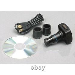 AmScope ME300TA-10M 40X-640X EPI Metallurgical Microscope + 10MP Digital Camera
