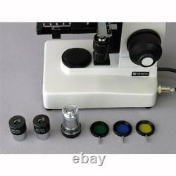 AmScope ME300TZA-8M 40X-1600X EPI Metallurgical Microscope + 8MP Digital Camera