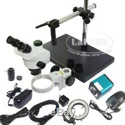 Auto Focus HDMI FHD Digital Camera Simul-focal Trinocular Zoom Stereo Microscope