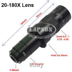 Autofocus 1080P 60FPS HDMI High Speed Digital Microscope Camera 10X-180X C Lens