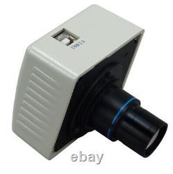 Boom Stand Trinocular Stereo Zoom Microscope 3.5X-90X+54 LED Light+1.3MP Camera