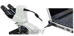 Built-in 3MP Digital Compound Microscope 40X-2000X+Software Win7+Carrying Case