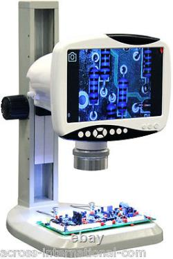 Digital 76X Stereo Scope Microscope with 9 1280x800 HD LCD 5MP Camera 720p Video