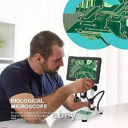 Digital Microscope 1200X 7 inch LCD Microscope with 32G Card 1080P Video Camera