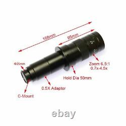 Digital microscope with 8 LED monitor HD colour camera 10X-90X zoom -UK seller