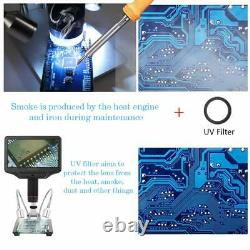 HDMI Microscope for Phone Repair and Soldering with 7 LCD Monitor & 4MP UHD