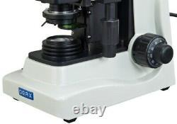 High End Trinocular Microscope Compound 40X-1600X Sturdy Base+5MP Digital Camera