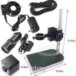 Measuring +Scale 100X 12MP 1080P 60FPS HDMI Digital Industrial Microscope Camera