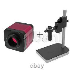 New Digital Microscope Camera Body with Stand and Lens 14MP Pink C-Mount HDMI