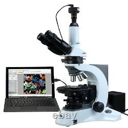 OMAX 40X-1000X PLAN Trinocular Infinity Polarizing Microscope+9MP Digital Camera