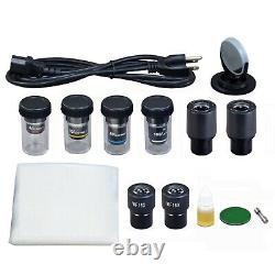 OMAX 40X-1600X Phase Contrast PLAN Objective+BF Microscope w 2MP Digital Camera