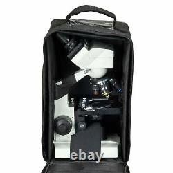 OMAX 40X-2000X Built-in 1.3MP Digital Camera Binocular Compound Microscope +Case