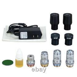 OMAX 40X-2000X Digital Lab LED Microscope+1.3MP Camera+Slides+Book+Cleaning Kit