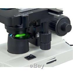 OMAX 40X-2500X Built-in 1.3MP Digital Camera LED Binocular Compound Microscope