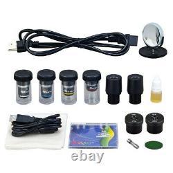 OMAX 40X-2500X Built-in 3MP Digital Camera Dry Darkfield Compound LED Microscope