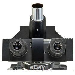 OMAX 40X-2500X Darkfield Trinocular LED Compound Microscope+9MP Digital Camera