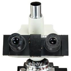 OMAX 40X-2500X Digital LED Lab Compound Trinocular Microscope w 1.3MP USB Camera