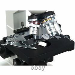OMAX 40X-2500X Trinocular Lab Compound LED Microscope + Digital Video Camera
