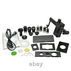 OMAX 40X-400X 14MP Digital Infinity Inverted Phase Contrast Compound Microscope