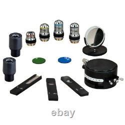 OMAX 40X-600X Trinocular Polarizing Microscope+Bertrand Lens+10MP Digital Camera