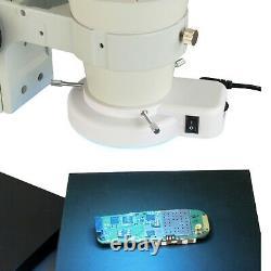OMAX 6-50X Stereo Microscope+Boom Stand+54 LED Ring Light+5MP USB Digital Camera