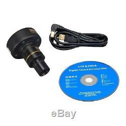 OMAX Compound Biological Trinocular 40X-1600X Microscope with 9MP Digital Camera