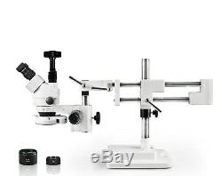 Parco 3.5X-90X Simul-Focal Trinocular Zoom Stereo Microscope, 16MP Digital Camera