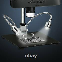 Portable 8.5 LCD 1080P 12MP Digital Microscope 50X-1300X Camera 2000mAh +Remote