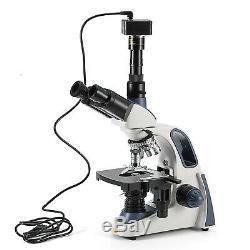 SWIFT 40X-2500X LED Trinocular Light Compound Microscope With 5MP Digital Camera