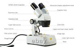 SWIFT Stereo Microscope 20X/40X/80X Dual Light Dissecting with 2MP Digital Camera