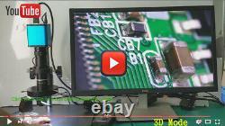 Stereo 3D 2D 200X Zoom C-MOUNT Lens HDMI Digital Microscope Camera IMX290 CMOS