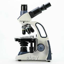 US SWIFT SW380T 40X-2500X Trinocular Compound Microscope With 5MP Digital Camera