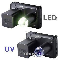Vividia 3R-500UV 3.5 Inch Portable Digital Microscope with White/UV LED Lights