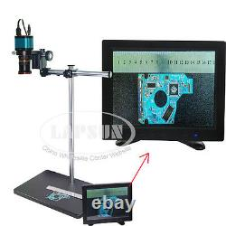 Wide Field 14MP HDMI USB Industry Digital Microscope Camera Dual Arm Table Stand
