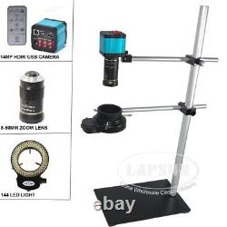 Wide field 14MP 1080P HDMI USB Digital Industrial Microscope Camera Zoom Lens AU