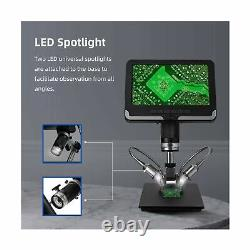 Wintex Digital Microscope LCD Screen 7in 1080P LED Light Camera Video Recorder