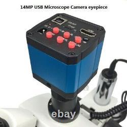Zoom Illuminated Microscope Trinocular Stereo Digital Microscope with USB Camera