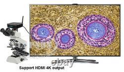 120gb 4k Uhd Hdmi Usb 3.0 Wifi Ip Web Digital Microscope Caméra Vidéo C Monture