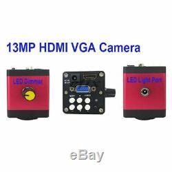 13mp Hdmi Vga / 22mp Hd Usb Tf Microscope Monoculaire Appareil Photo Numérique Objectif 56 Led LI
