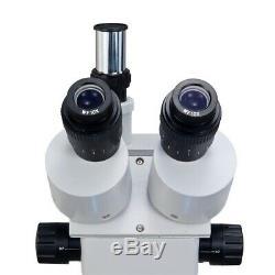 14mp Appareil Photo Numérique Trinoculaire Stéréo Zoom 3.5-90x Microscope + 144 Lumière Led Anneau