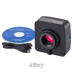 14mp Usb3.0 Appareil Photo Numérique Avec Adaptateur 0.55x Pour Nikon Microscopes