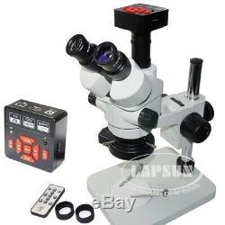 16mp 60fps Appareil Photo Numérique Usb Hdmi + 45x Simul-focale Stéréomicroscope Trinoculaire
