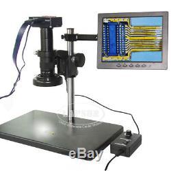 16mp Hdmi 1080p 60fps Chiffres Appareil Photo De Microscope Industriel 8 Moniteur LCD 180x Len