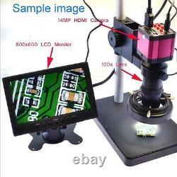 16mp Tv Hdmi Usb Industrie C-mount Numérique Caméra Microscope Win10 + 100x Lens