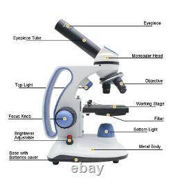 2000x Caméra Usb Microscope Numérique Led Microscope Biologique Monoculaire