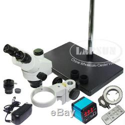 200x 14mp Hdmi Usb Hd Appareil Photo Numérique + Simul-focale Stéréomicroscope Trinoculaire